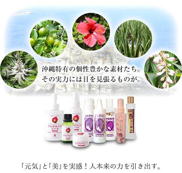 沖縄特有の個性豊かな素材たち。その実力には目を見張るものが。「元気」と「美」を実感!人本来の力を引き出す。