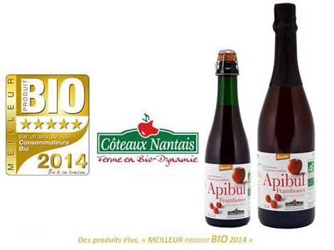 フランスで「2014年度の最高のオーガニック製品」に選ばれました!