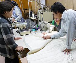 福島県相馬市の縫製工場