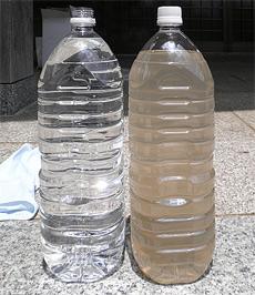 透明度の高い水になりました