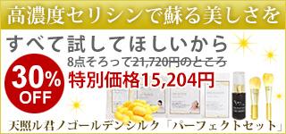 ゴールデンシルクシリーズすべてのアイテムをセットにして通常21,720円のところ特別価格15,204円特価30%OFF