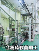 有機明日葉粉末:乾燥品の品の形で国内の有機JAS認定加工工場へ