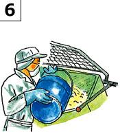 その他の原料を混ぜ合わせて「直火釜」でじっくり炊きます。