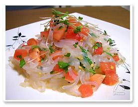 イタリアンパセリとトマトの冷製パスタ