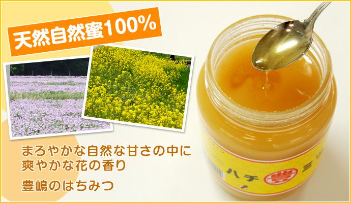 天然自然蜜100% まろやかな自然な甘さの中に爽やかな花の香り 豊嶋のはちみつ