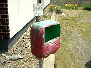 伊藤さんお手製の郵便ポスト。