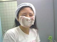 マスクのような泡