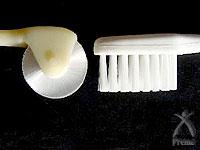 コロピーと一般の歯ブラシ1