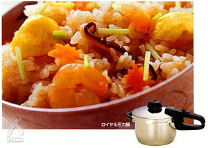 フィスラー圧力鍋:秋の吹き寄せご飯