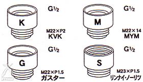 JSKフリオン:4種類のアタッチメント