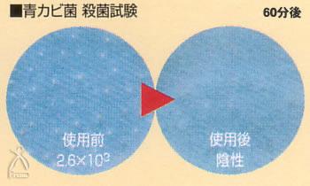 JSKフリオン:青カビ菌 殺菌試験