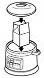 発芽美人:内なべに[1]のパック牛乳を入れ、周囲に水を入れる