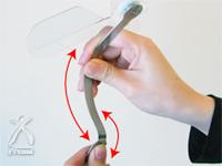 ハイブリッドファン:金属のステー部分の角度調節