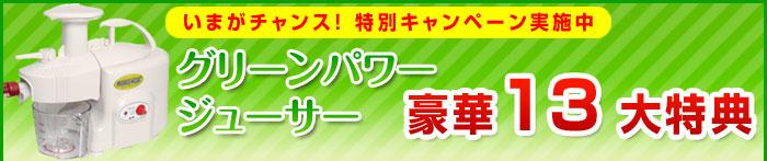 【グリーンパワージューサー】豪華14大特典