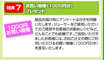 特典7:お買い物権(1000円分)プレゼント border=