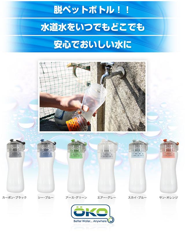 脱ペットボトル!!水道水をいつでもどこでも安心でおいしい水に
