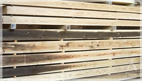 燻煙熱処理木材