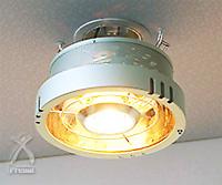 ポカピカ:天井に取り付けるヒーター一体型照明