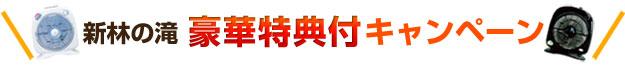 新林の滝 豪華特典付きキャンペーン
