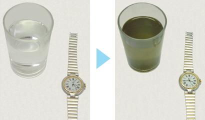 時計の洗浄テスト