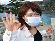 マスクとサングラスつけてみました