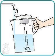 クオリ:ポットに水を入れる
