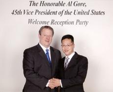 ノーベル平和賞受賞 アル・ゴア氏と