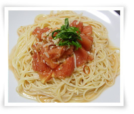 塩麹トマトの冷製パスタ