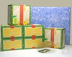 【ギフト】かえる印のナチュラルかとり線香 ギフトセット 30巻入×6箱