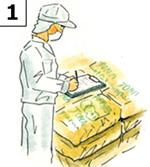 トレサビリティ確保の為の徹底した記録管理と品質管理をしています。