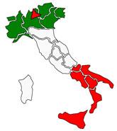 イタリアミラノ地図