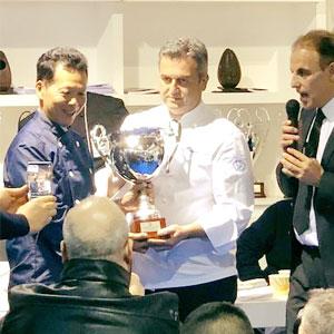 国際ジェラートコンクールでプレマルシェジェラテリアのビーガンジェラートマエストロ中川が入賞した瞬間