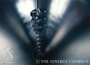 ピュアシナジー:熱を発生しないよう工夫された攪拌用ドリ  ル
