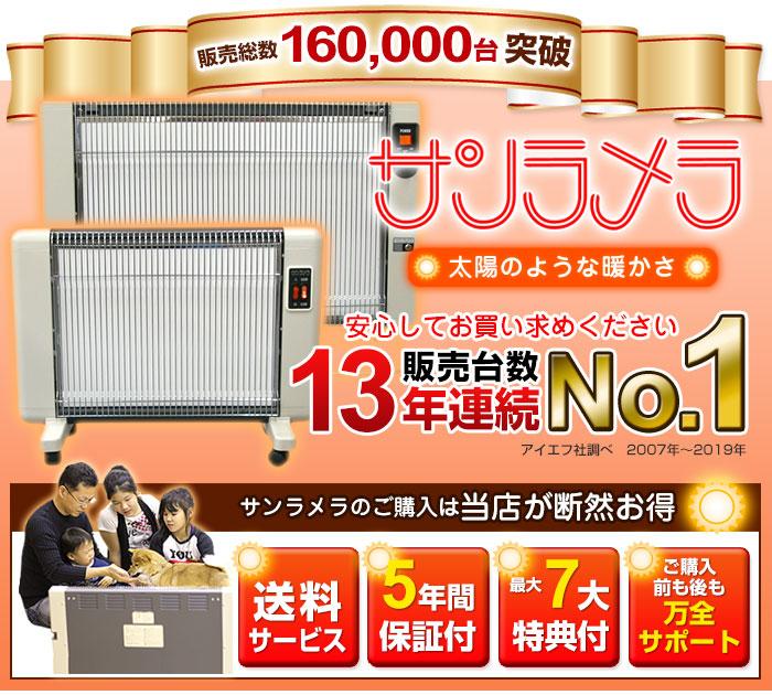 サンラメラ販売台数7年連続NO.1