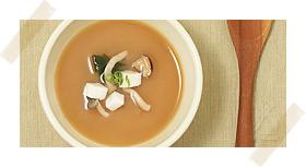 きのこ味噌スープ