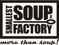 なSMALLEST SOUP FACTORのロゴ