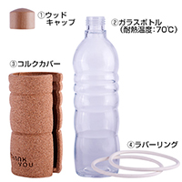 THANK YOU 100%ナチュラルボトル To Go 500ml